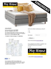 my home senge Konkurrencer fra My Home | Facebook konkurrencer   My Home Møbler my home senge