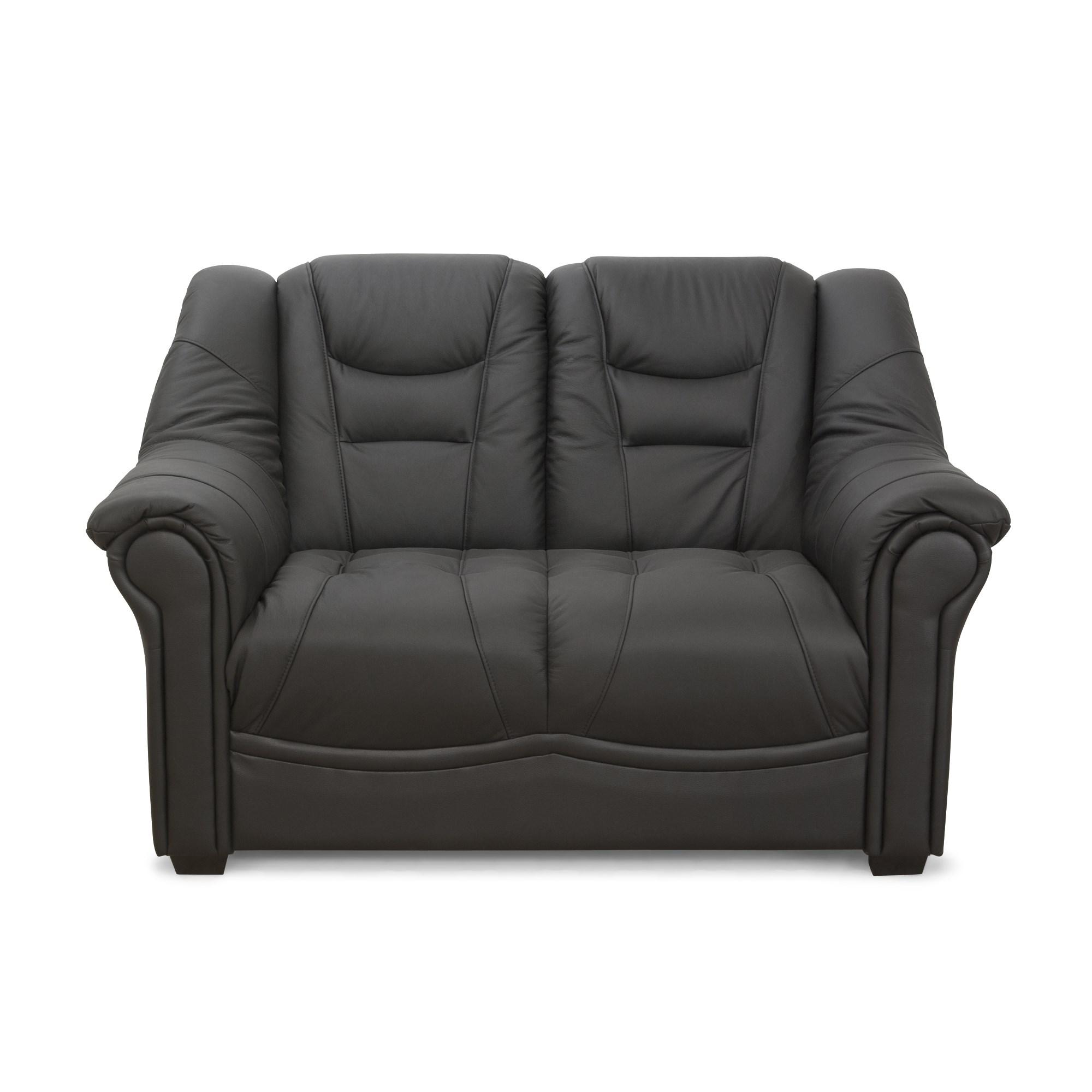 Køb Madison 2 Pers. Sofa I Sort Okselæder