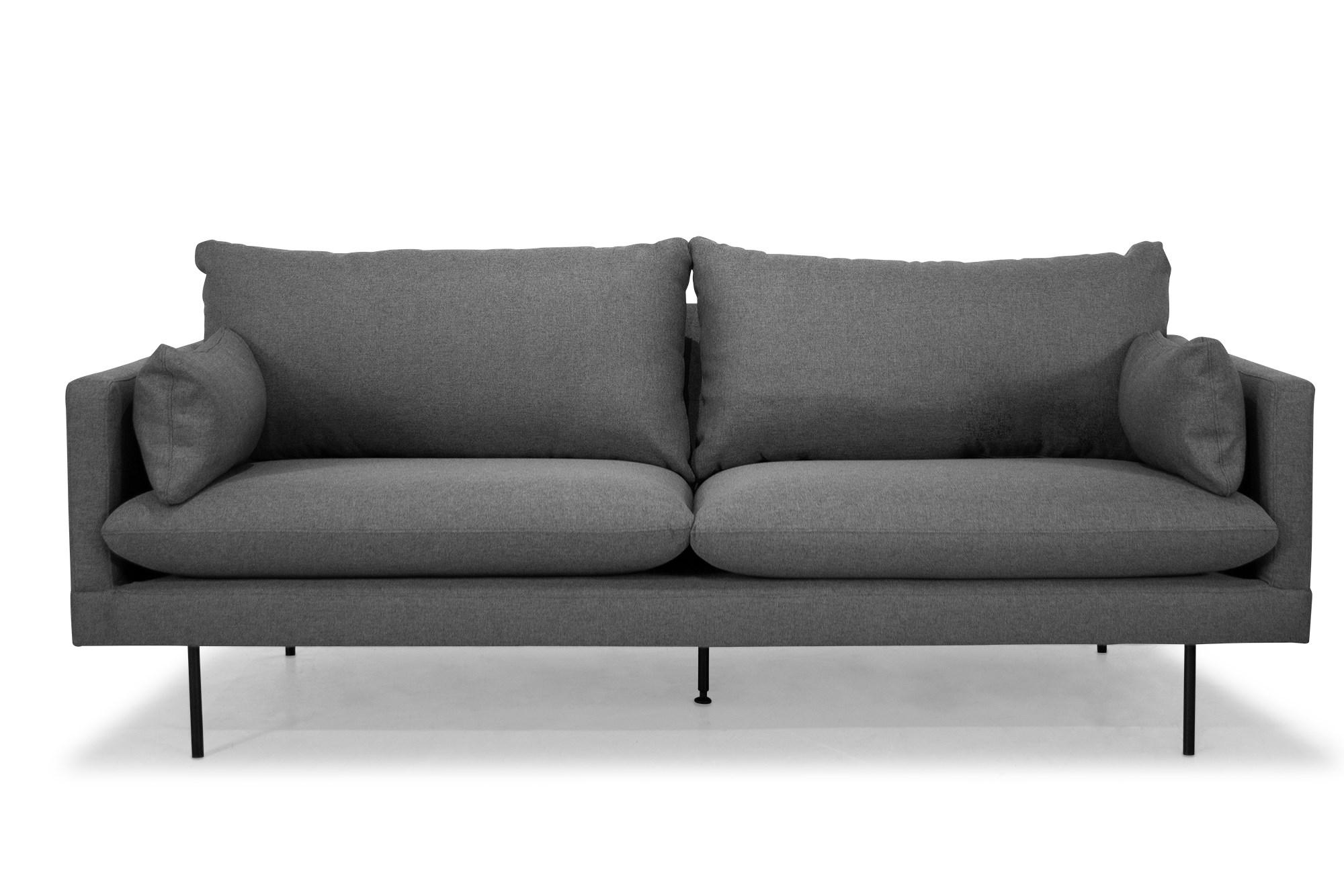 Billede af Cambridge 3 Pers. Sofa I Mørkegråt Stof