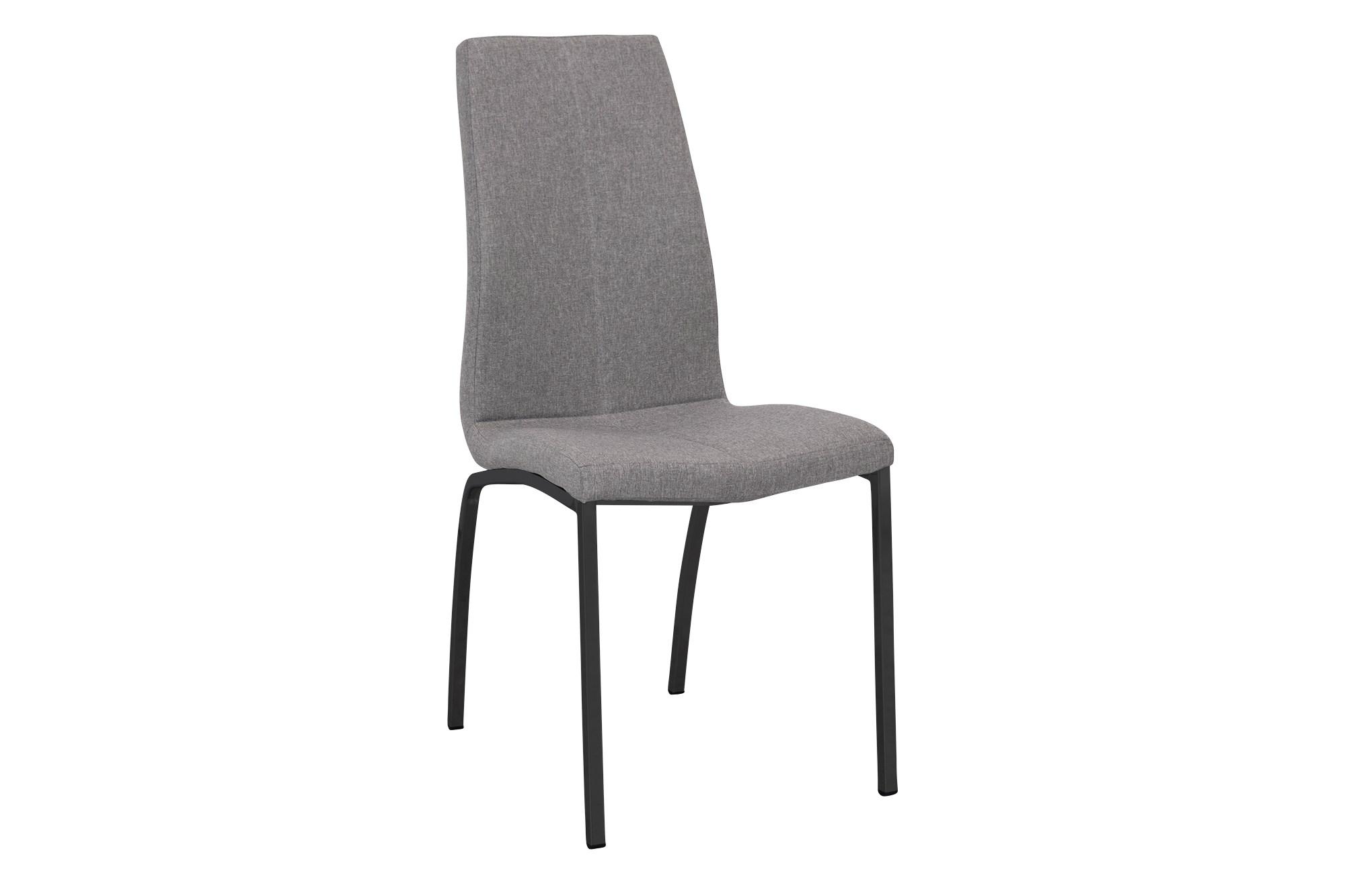Alina Spisebordsstol, Lysegrå M. Sort Stel