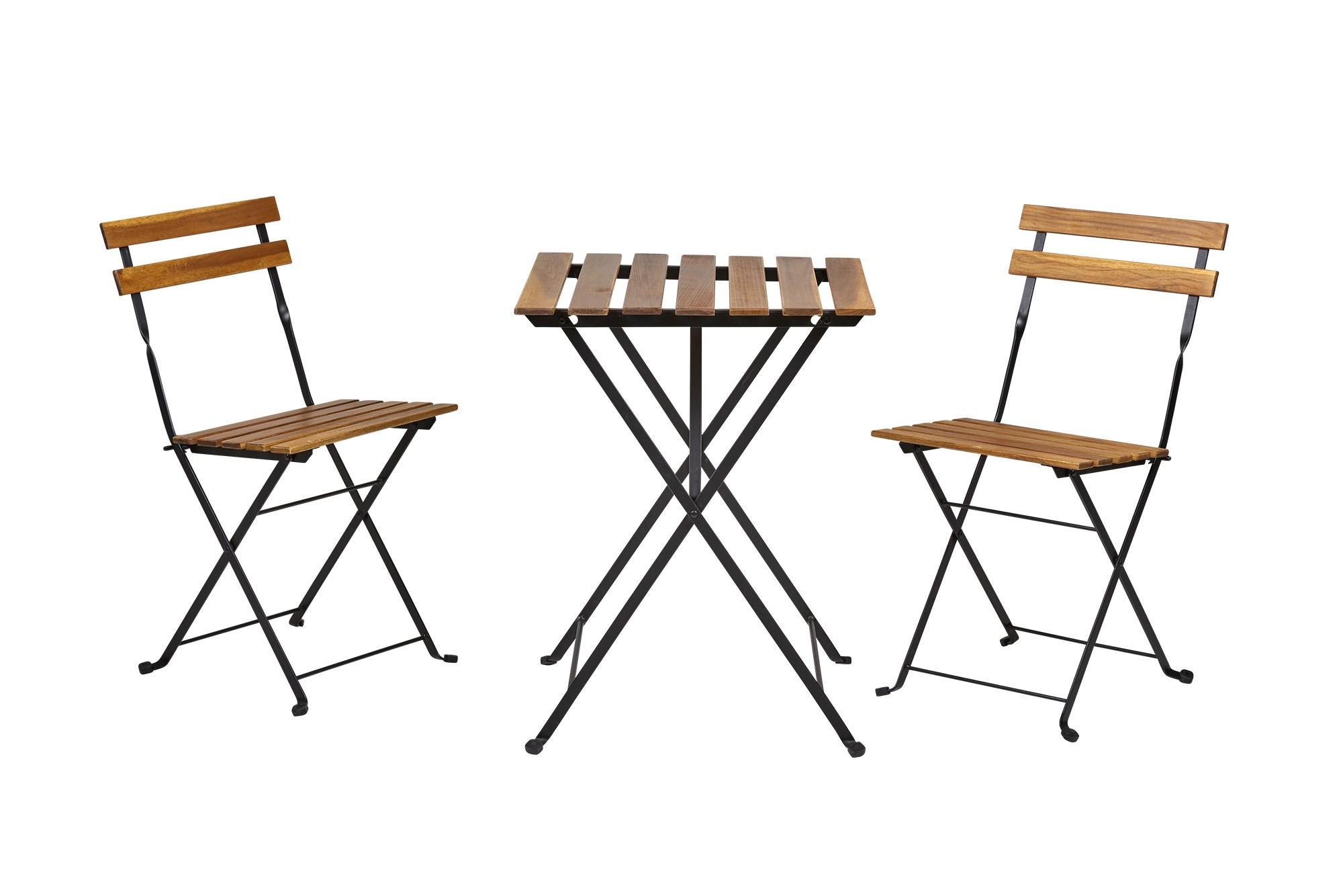 Køb Chianti Cafesæt, Lakeret Stål/ Akacietræ