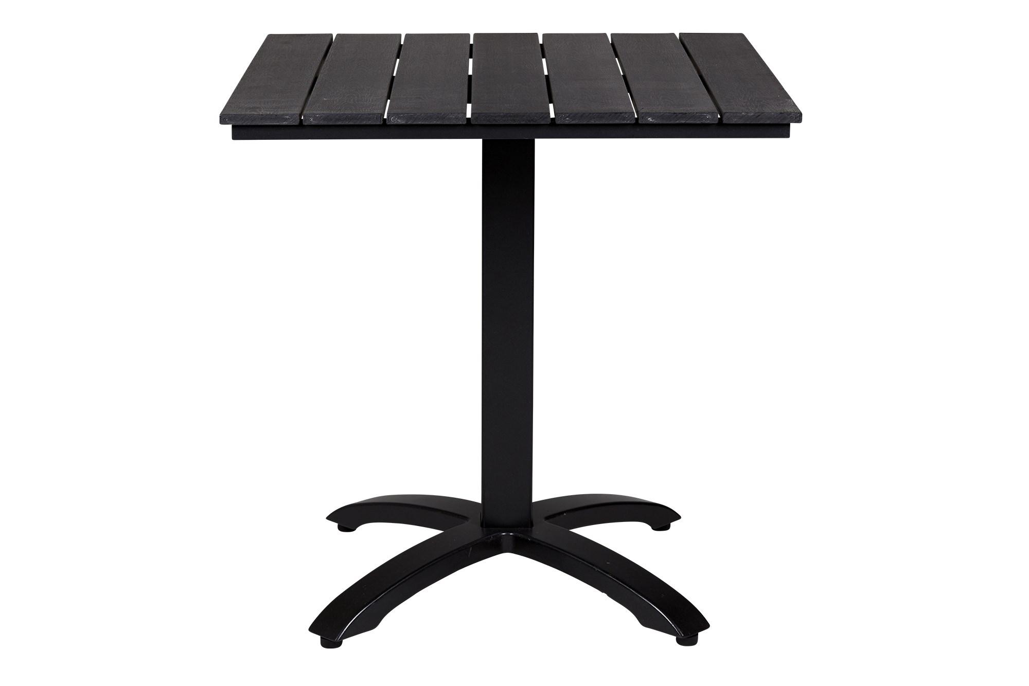 Køb Anzio Sort Nonwood Cafebord 70×70 Cm Med Sort Aluminium Stel