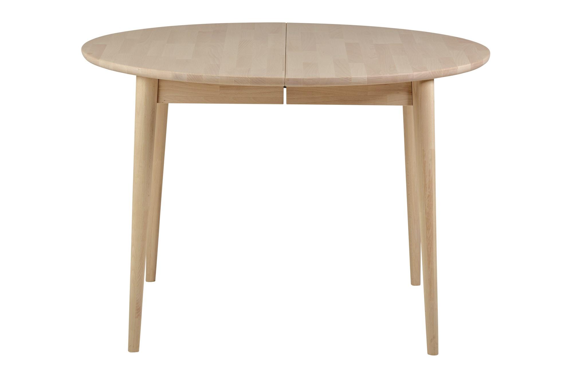 Køb Dash Rundt Spisebord, Massivt, Hvidolieret Bøg