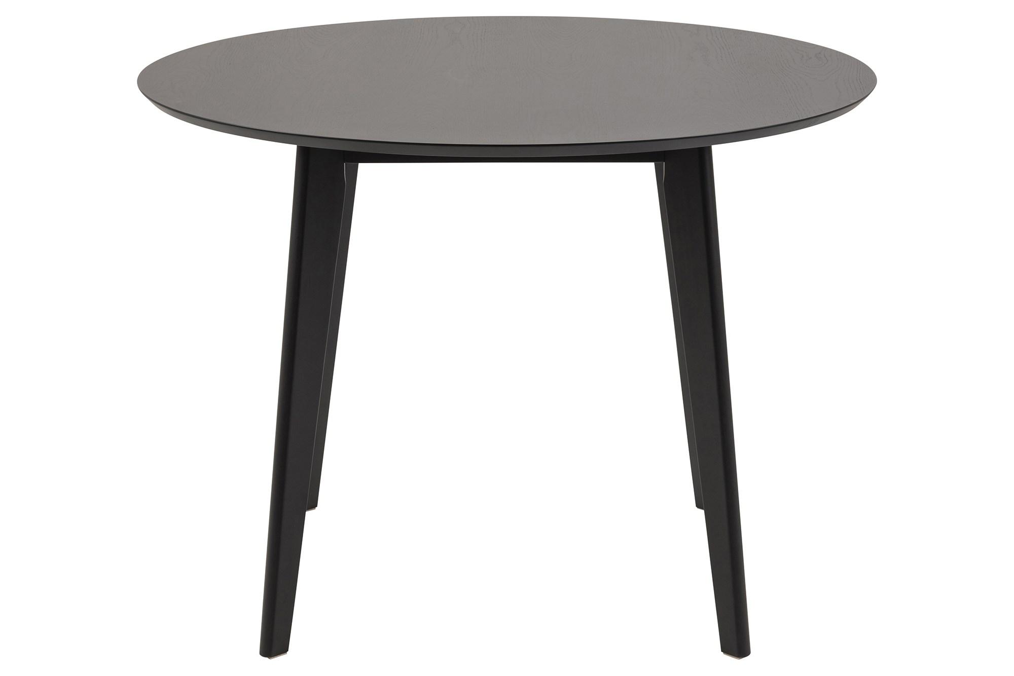 Køb Roxy Rundt Spisebord i Sort I Sortbejdset Egefinèr, Ø105
