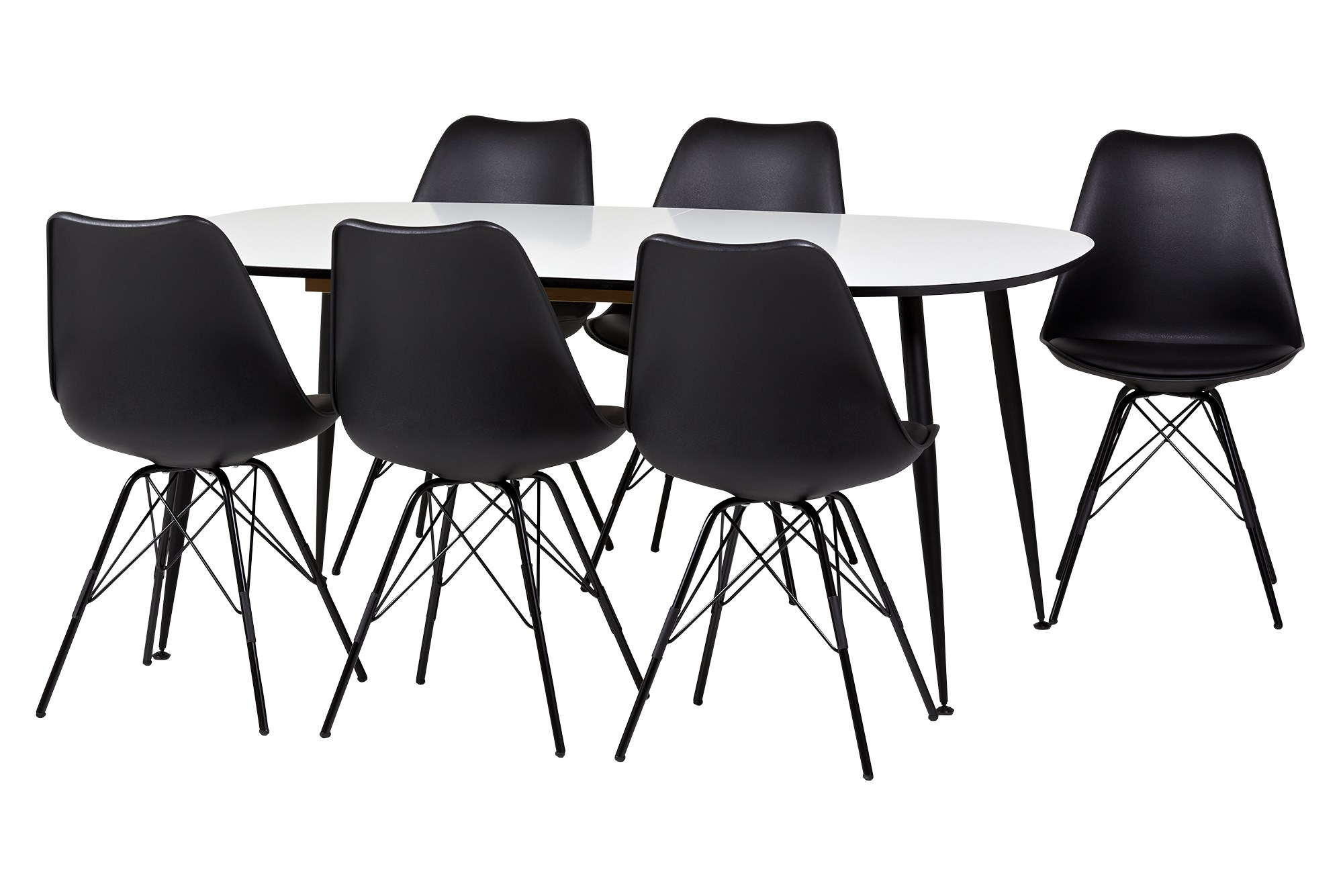 Køb Casa Spisebord Med Udtræk, M. 6 Stk. Falun Spisestuestol