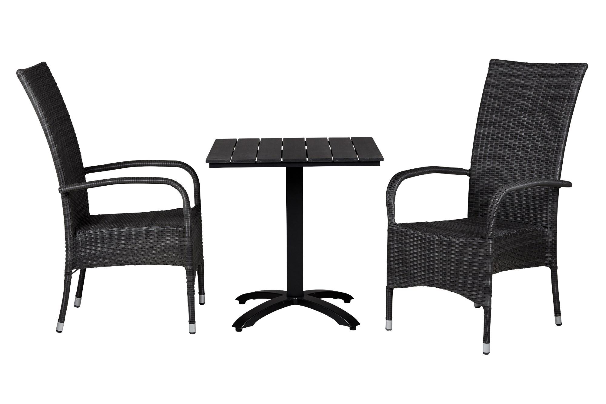 Køb Anzio Cafebord 70×70 Cm Inkl 2 Stk Mira Høj Havestole