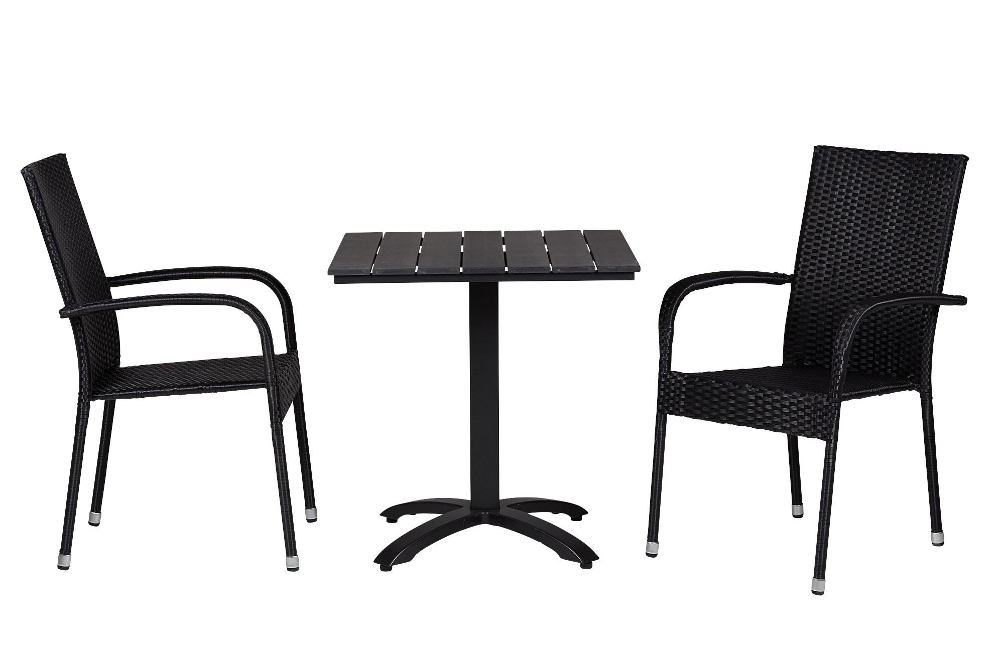 Køb Anzio Cafebord 70×70 Cm Inkl. 2 Stk. Patras Havestole